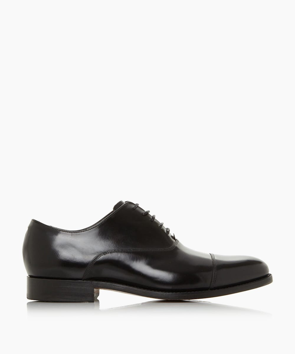High Shine Leather Toe Cap Shoes