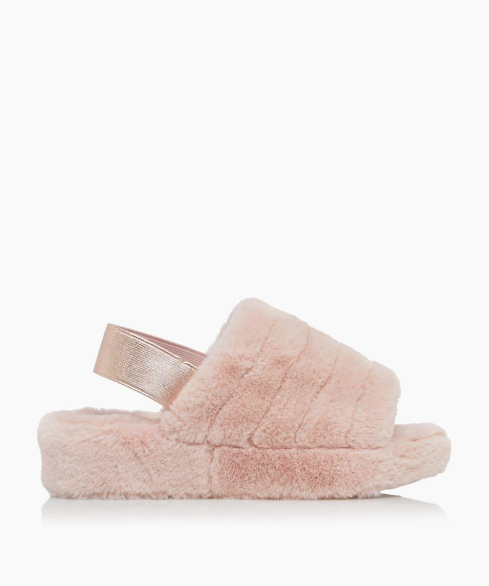 Fluffy Mule Slingback Slippers
