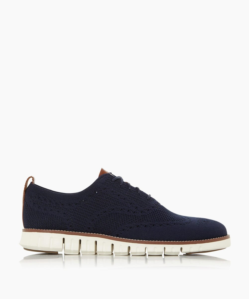 Lace Up Knitted Oxford Trainers